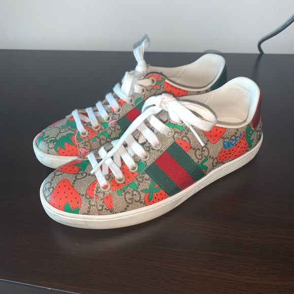 Gucci Shoes | Gucci Strawberry Ace